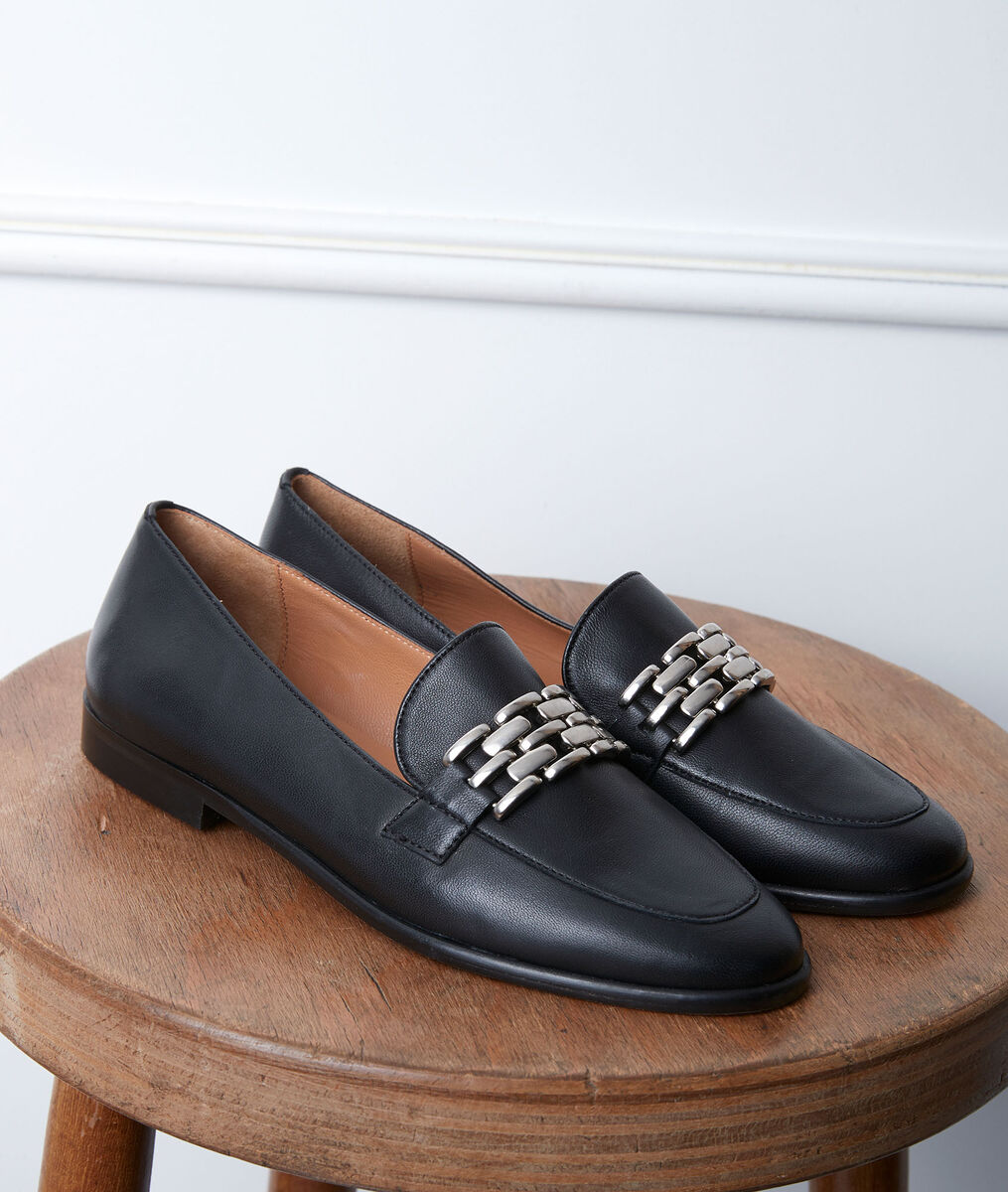 Gabin black leather loafers PhotoZ | 1-2-3