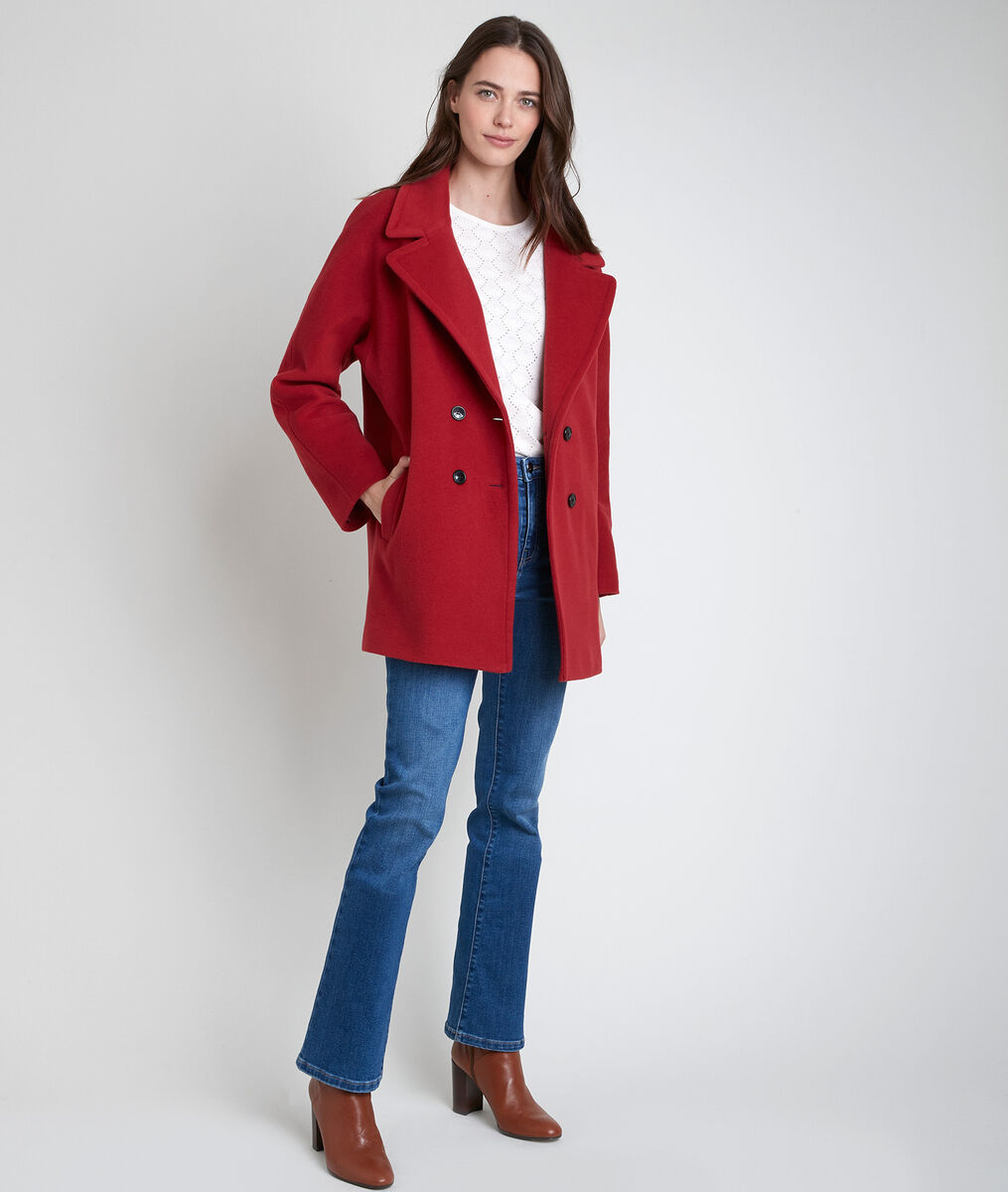 Joy terracotta wool blend coat PhotoZ | 1-2-3