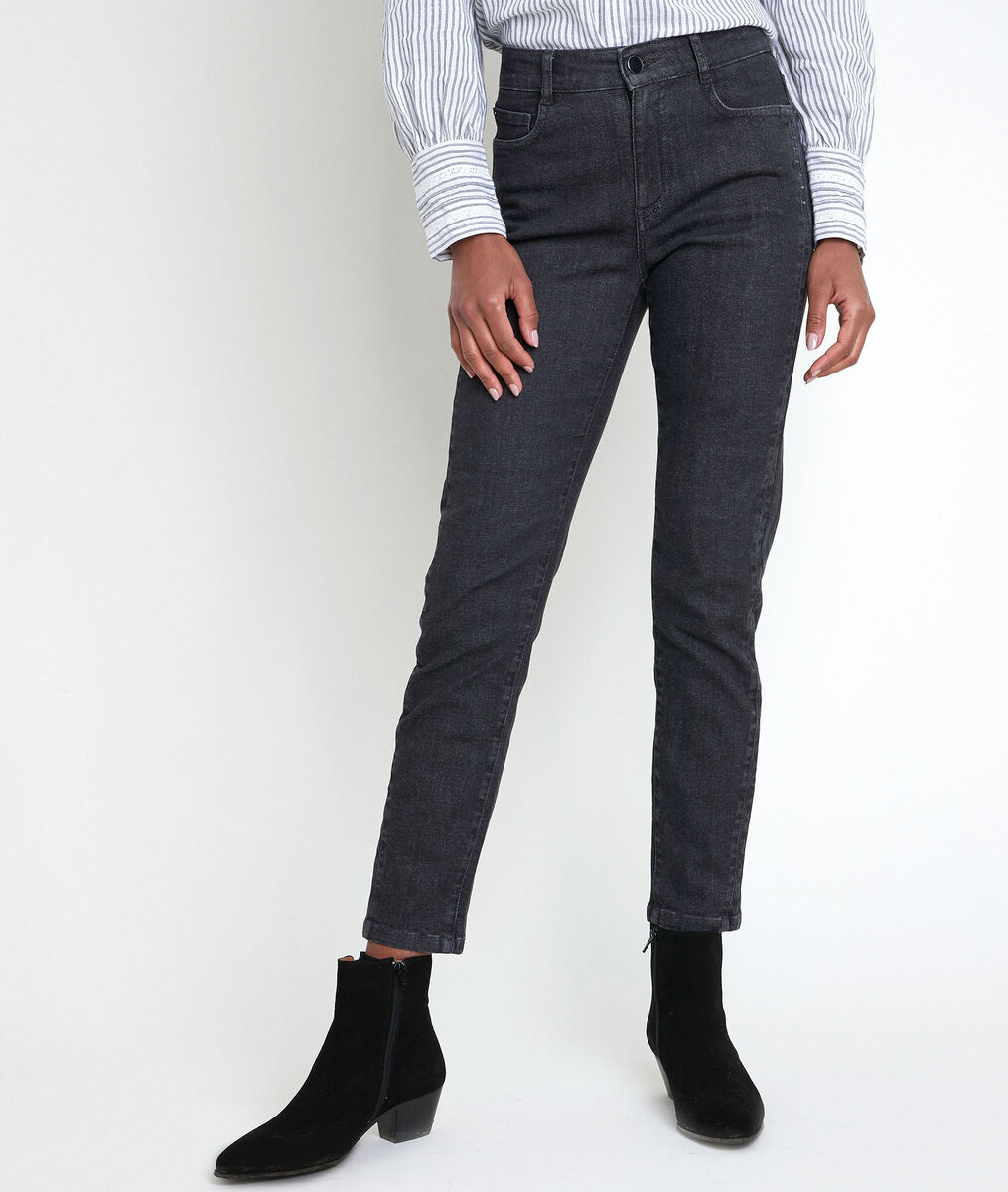 The iconic CANELLE black studded slim-fit jeans PhotoZ | 1-2-3