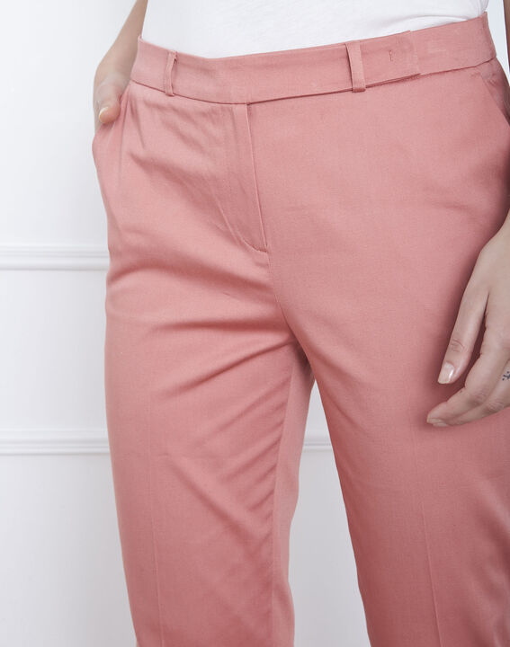 Rubis pink cigarette trousers (3) - Maison 123