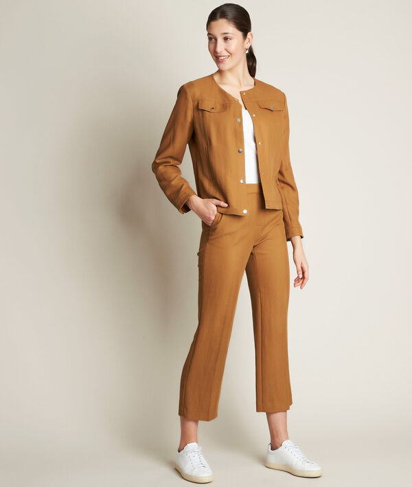Ilias camel cropped trousers PhotoZ | 1-2-3
