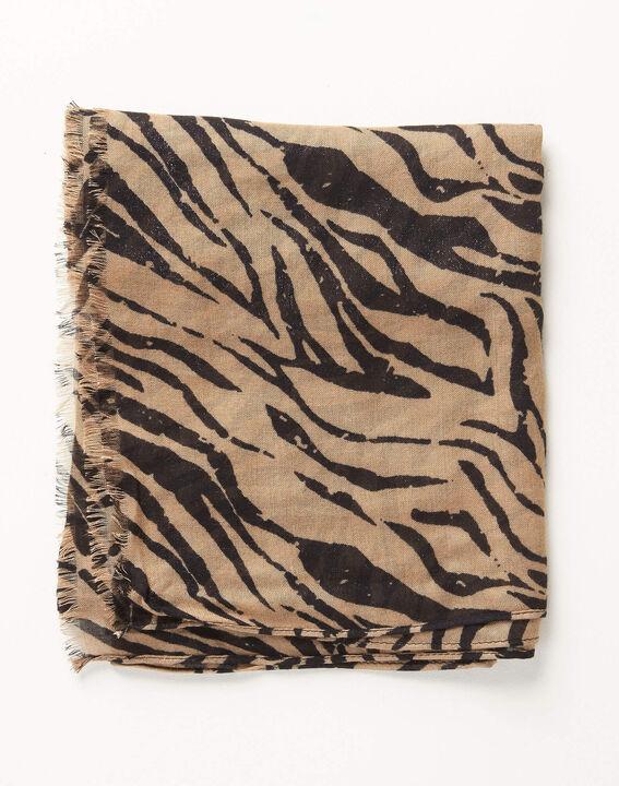Ange zebra print scarf in camel PhotoZ | 1-2-3