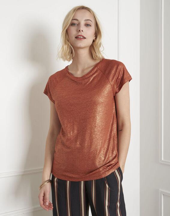 Pipper shiny mahogany T-shirt (2) - Maison 123