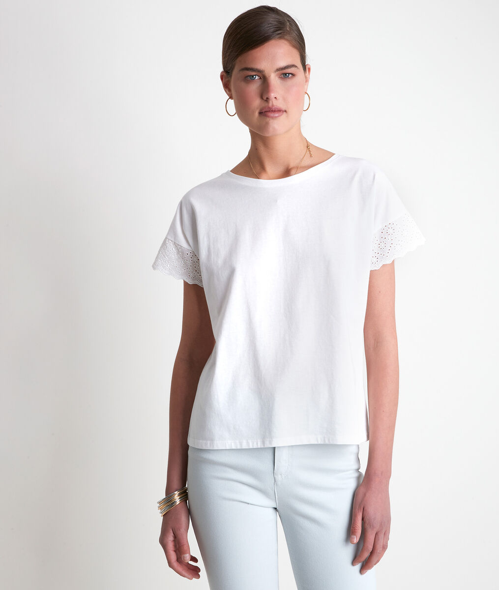 Idali white cotton T-shirt  PhotoZ | 1-2-3