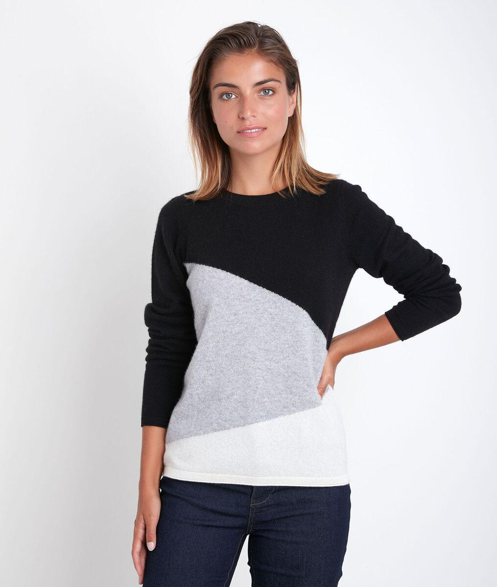 Raven colourblock cashmere pullover PhotoZ   1-2-3