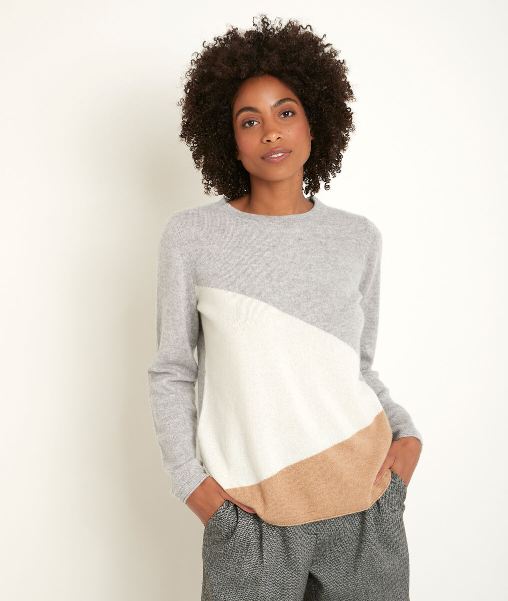 Raven colourblock cashmere pullover PhotoZ | 1-2-3