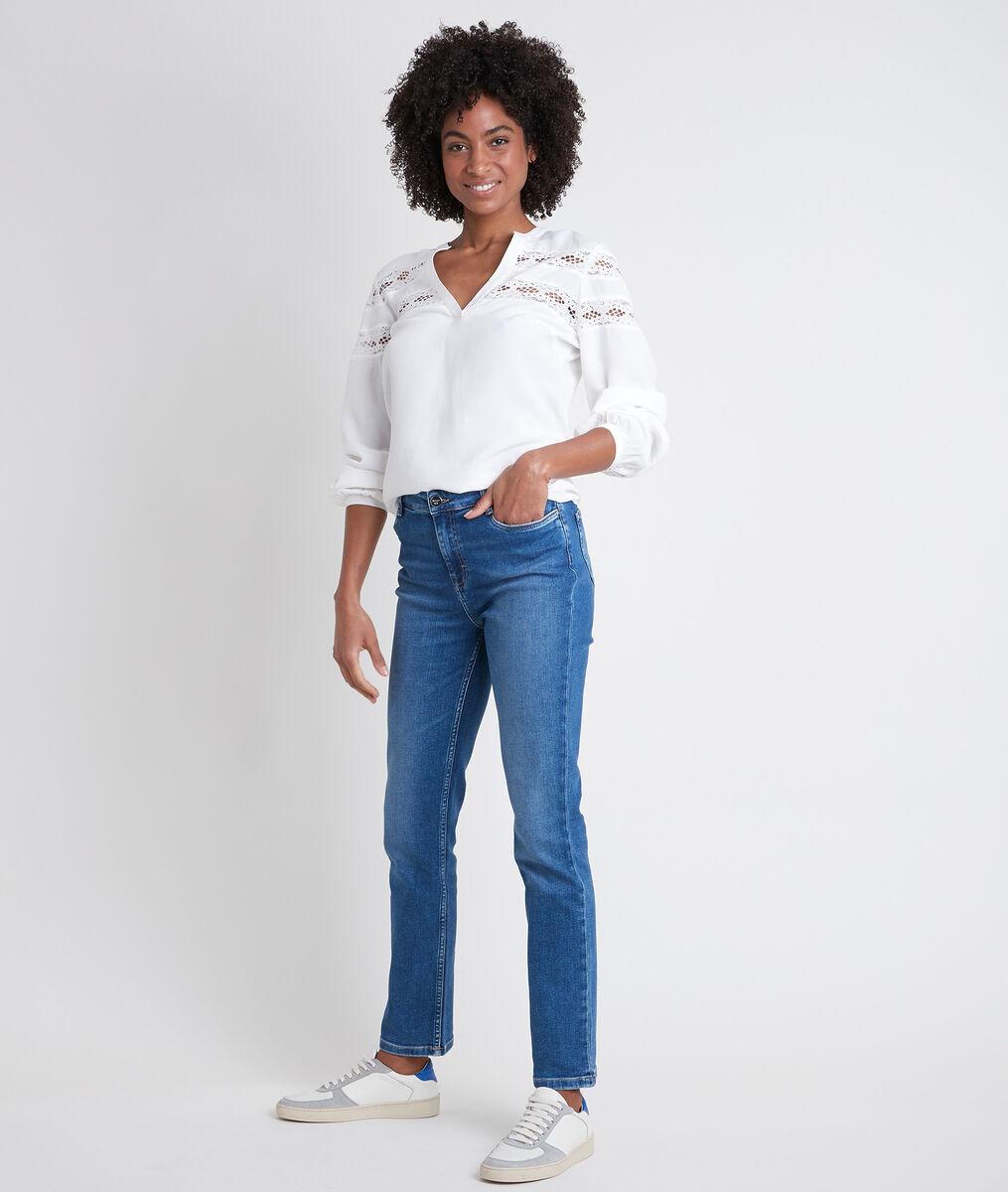DAISY two-fabric ecru top PhotoZ | 1-2-3
