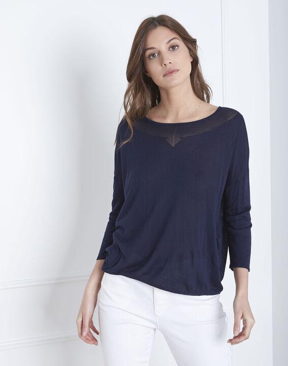 Avenir navy pullover with elegant neckline PhotoZ | 1-2-3