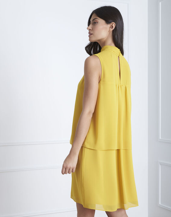 Heloise yellow high-neck dress (4) - Maison 123