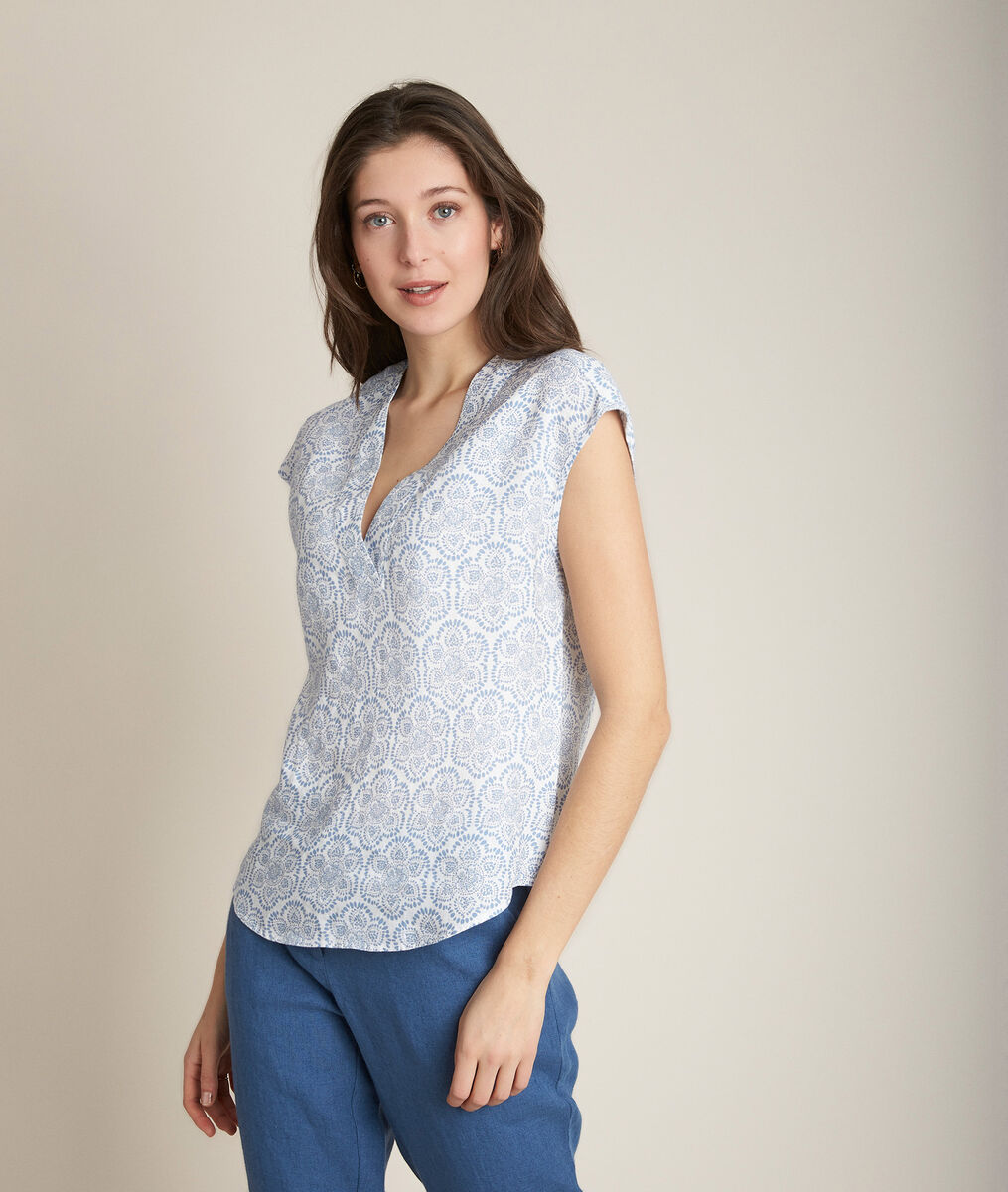 Eglantine printed linen top PhotoZ | 1-2-3