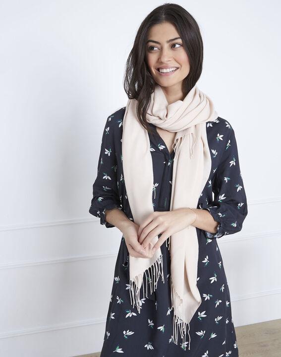 Fossette nude viscose fringed scarf (3) - Maison 123
