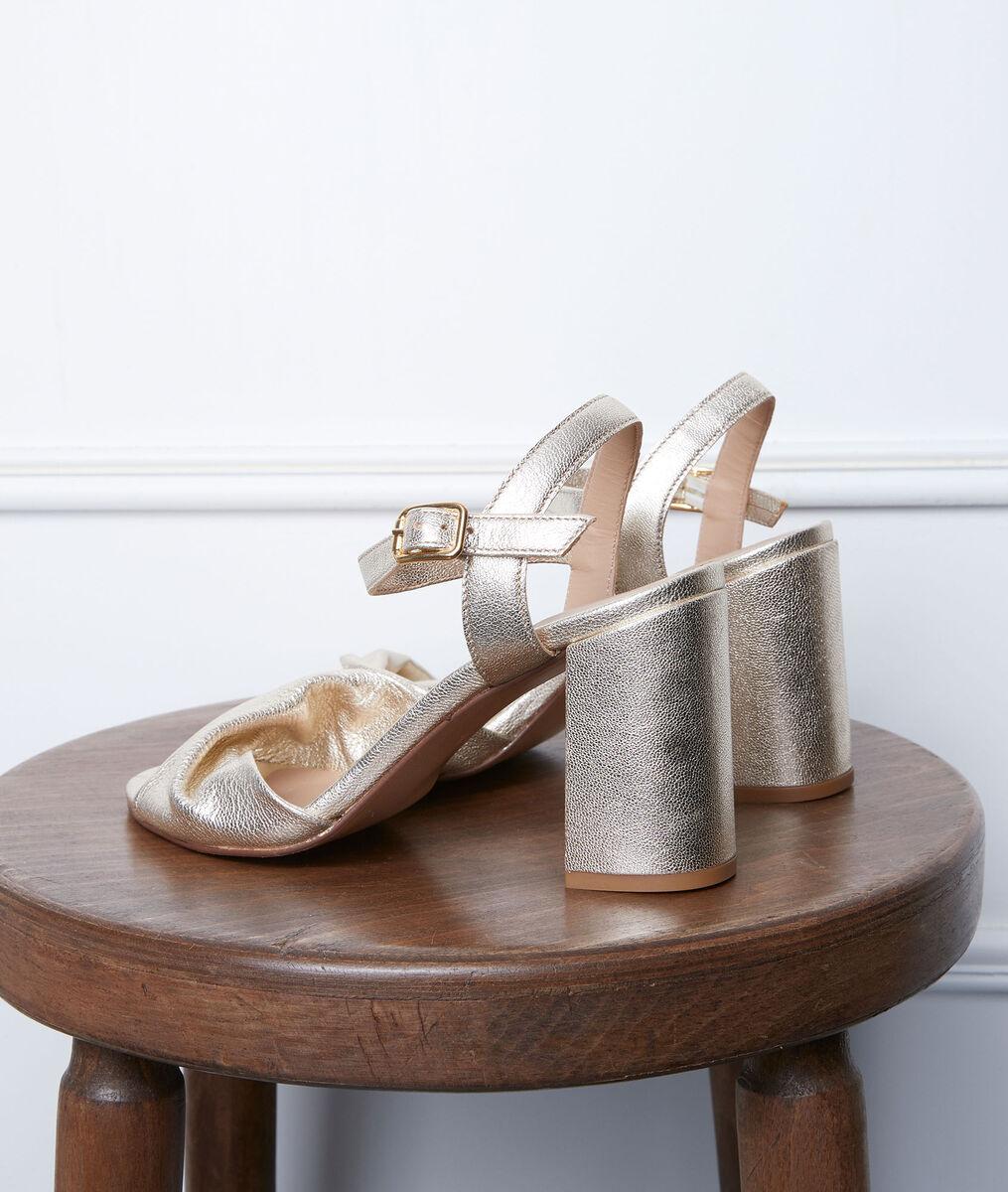 Gwen high heel gold sandals PhotoZ | 1-2-3