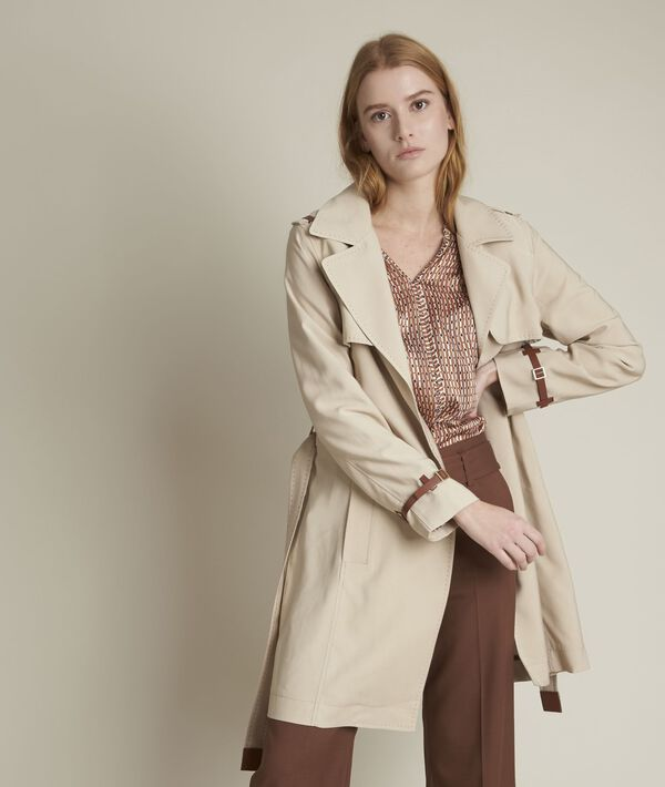 Fanny beige belted trench coat PhotoZ | 1-2-3