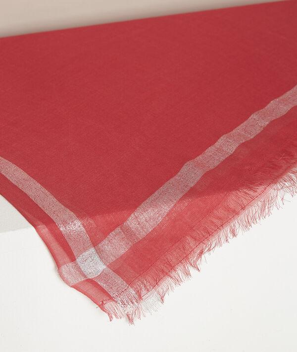 Orelia coral lurex scarf PhotoZ | 1-2-3