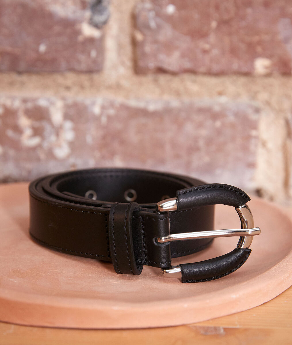 Eleonore black leather belt PhotoZ | 1-2-3