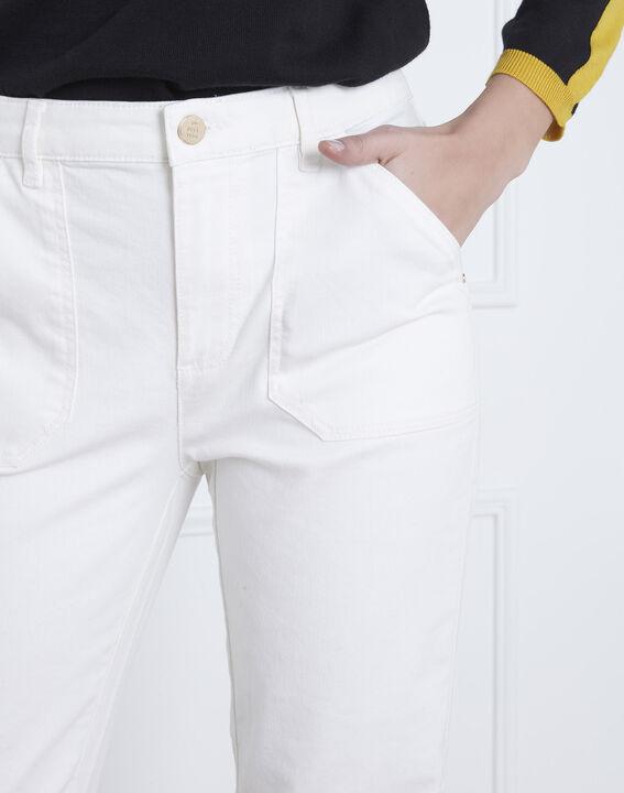 Coconut off-white 7/8 length boyfriend jeans (3) - Maison 123