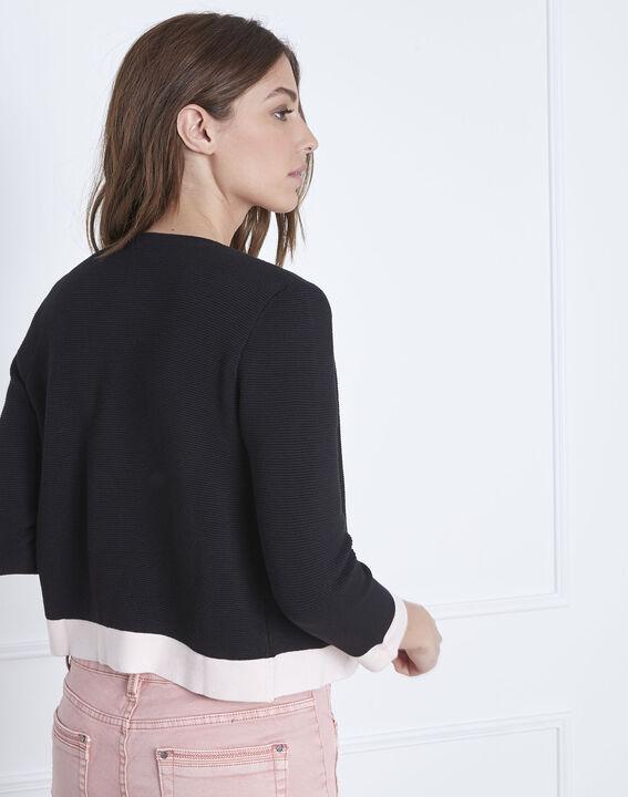 Narcisse 3/4 sleeves black bolero  (4) - Maison 123