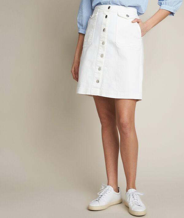 Ambre denim buttoned skirt PhotoZ   1-2-3