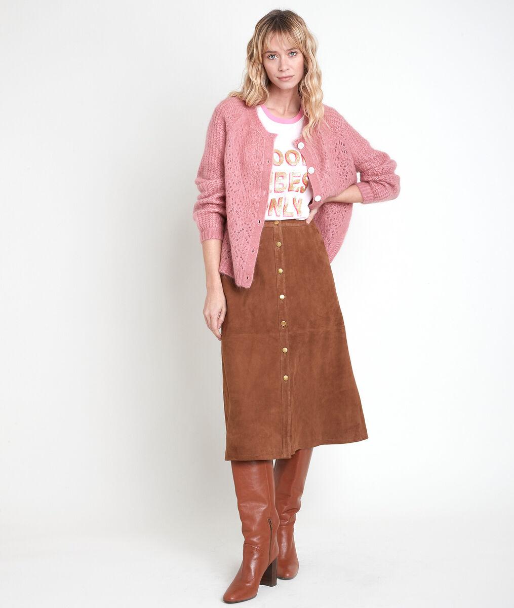 ARY pink wool-blend cardigan PhotoZ | 1-2-3