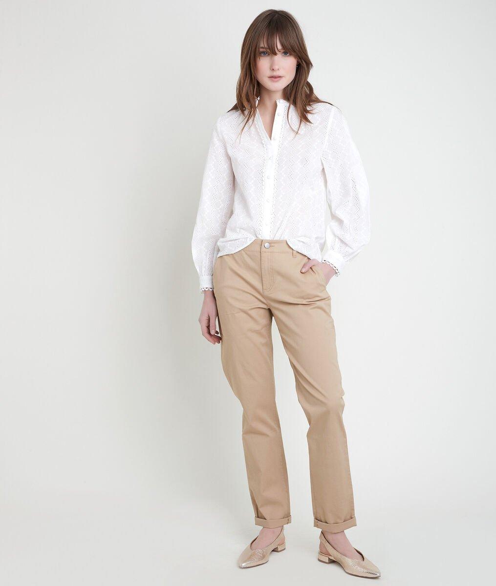 FRANCIS beige organic cotton chinos  PhotoZ | 1-2-3