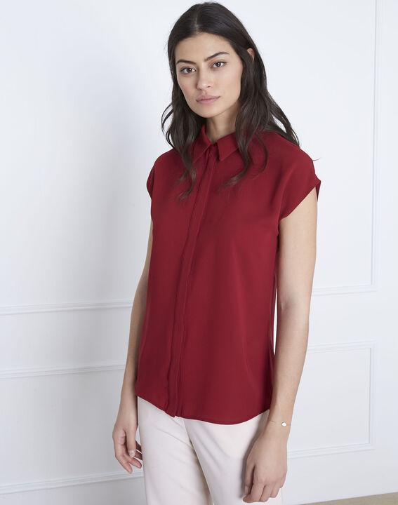 Valeria red straight-cut top (1) - Maison 123