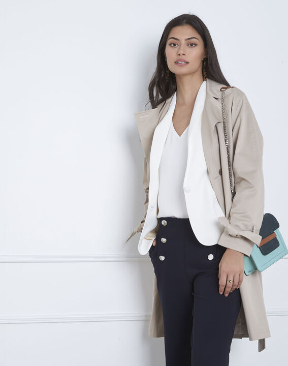 Sabrina white shawl-neck jacket (5) - Maison 123