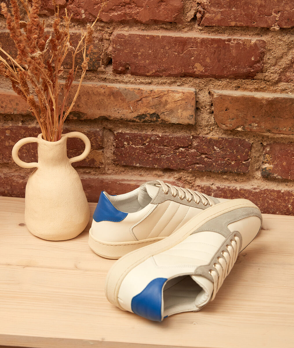 Vicky dual-material leather trainers PhotoZ | 1-2-3