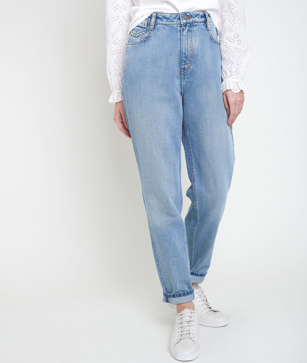 The lovely Solene pure bleached mum jeans PhotoZ | 1-2-3