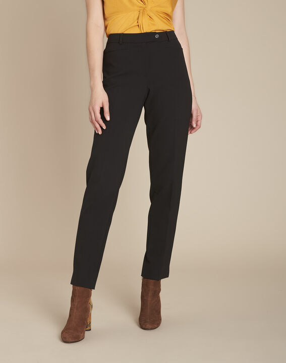 Valero black microfibre cigarette trousers PhotoZ | 1-2-3