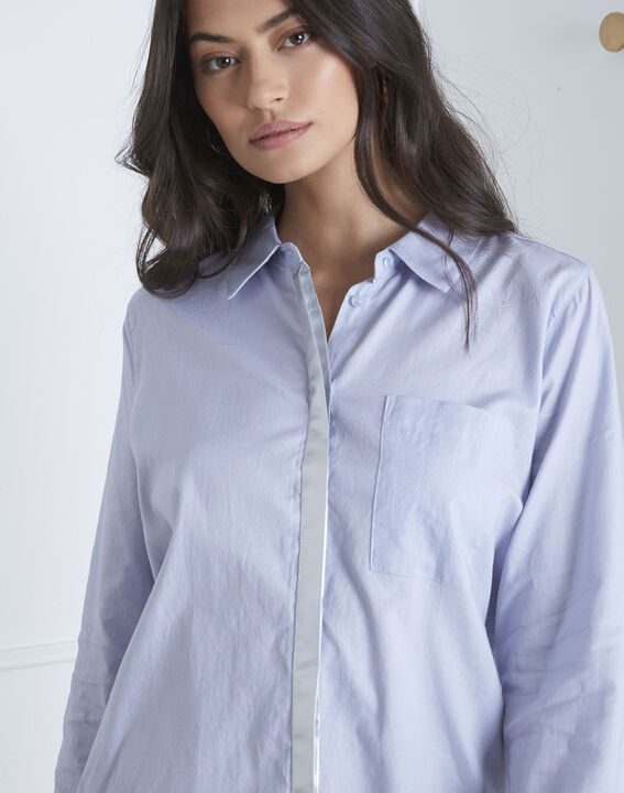 Valza blue shirt with silver details (3) - Maison 123