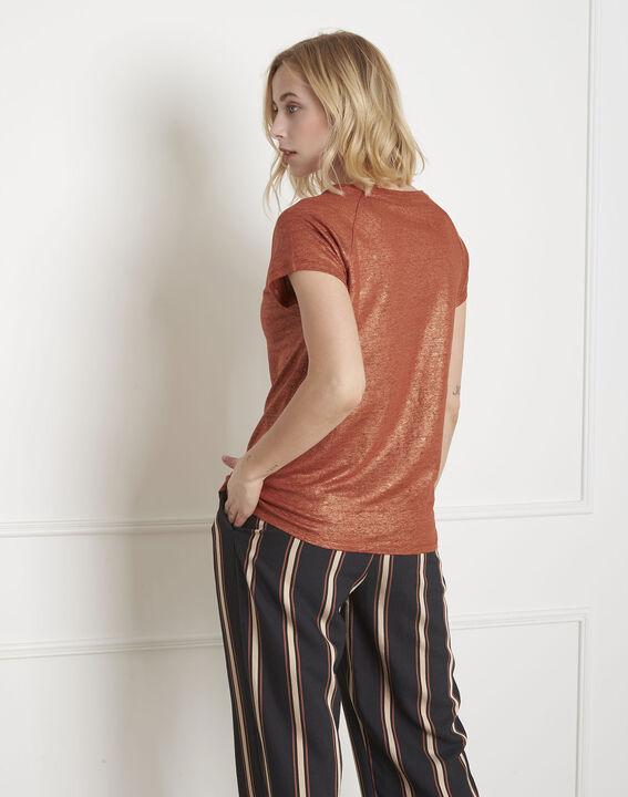 Pipper shiny mahogany T-shirt (4) - Maison 123