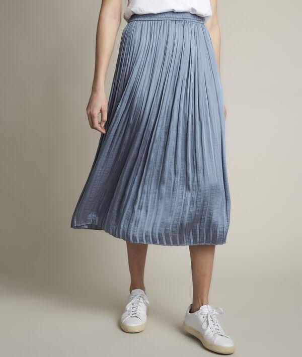 Betty washed satin pleated skirt PhotoZ | 1-2-3