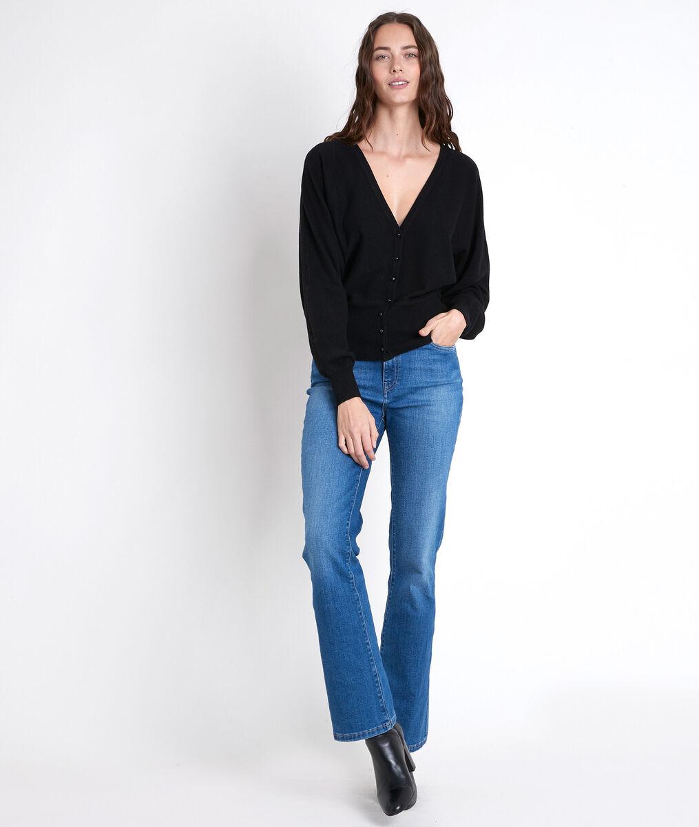 ALDO black wool-blend cardigan PhotoZ | 1-2-3