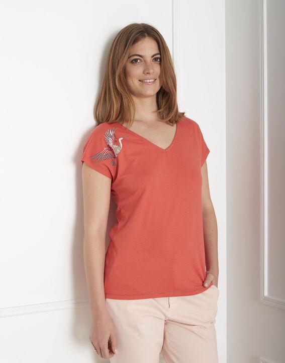 Prue orange embroidered T-shirt PhotoZ | 1-2-3