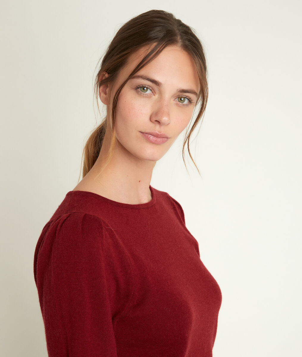 Ribambelle bordeaux wool and cashmere pullover PhotoZ | 1-2-3