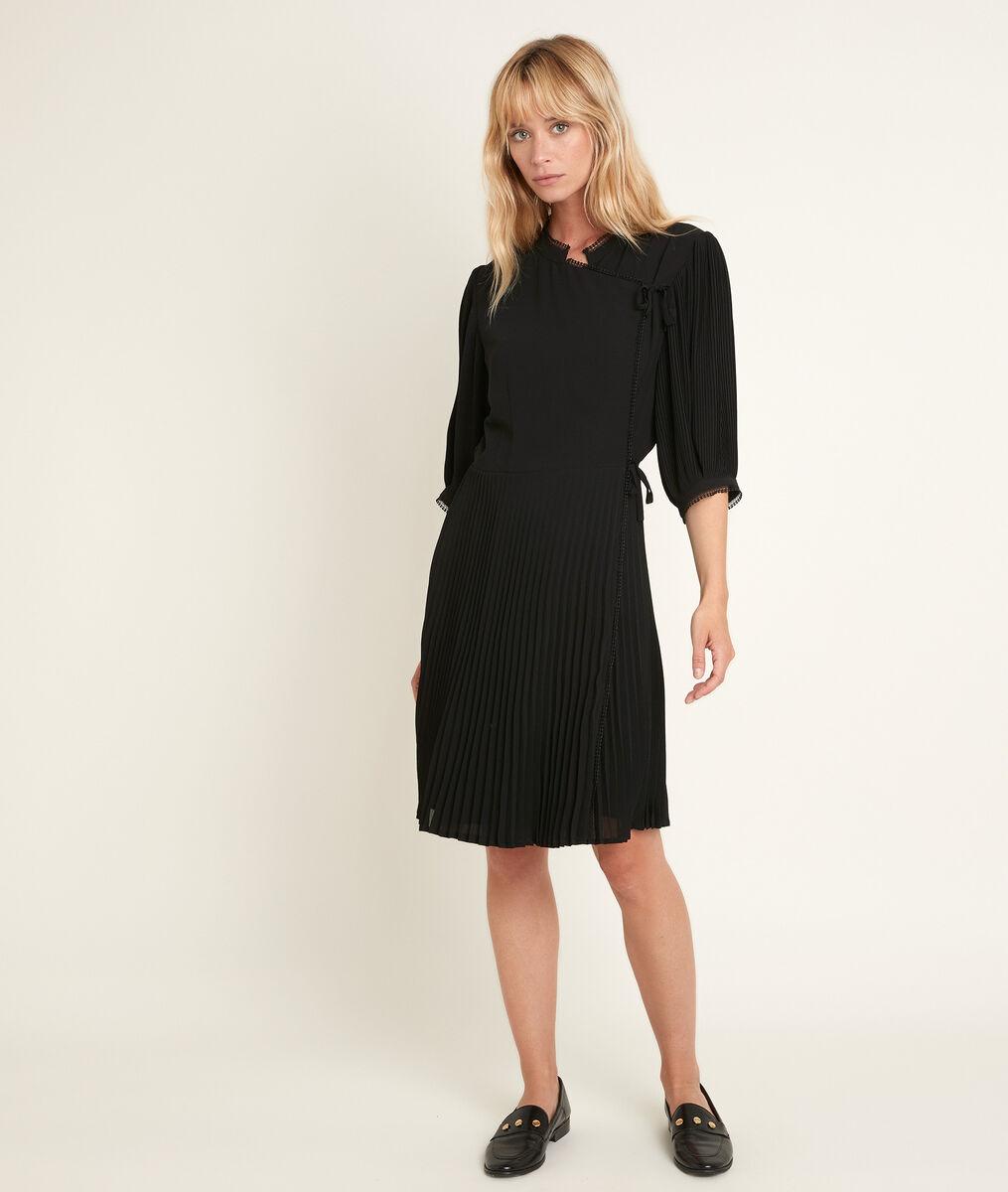 Carline pleated wrap dress PhotoZ | 1-2-3