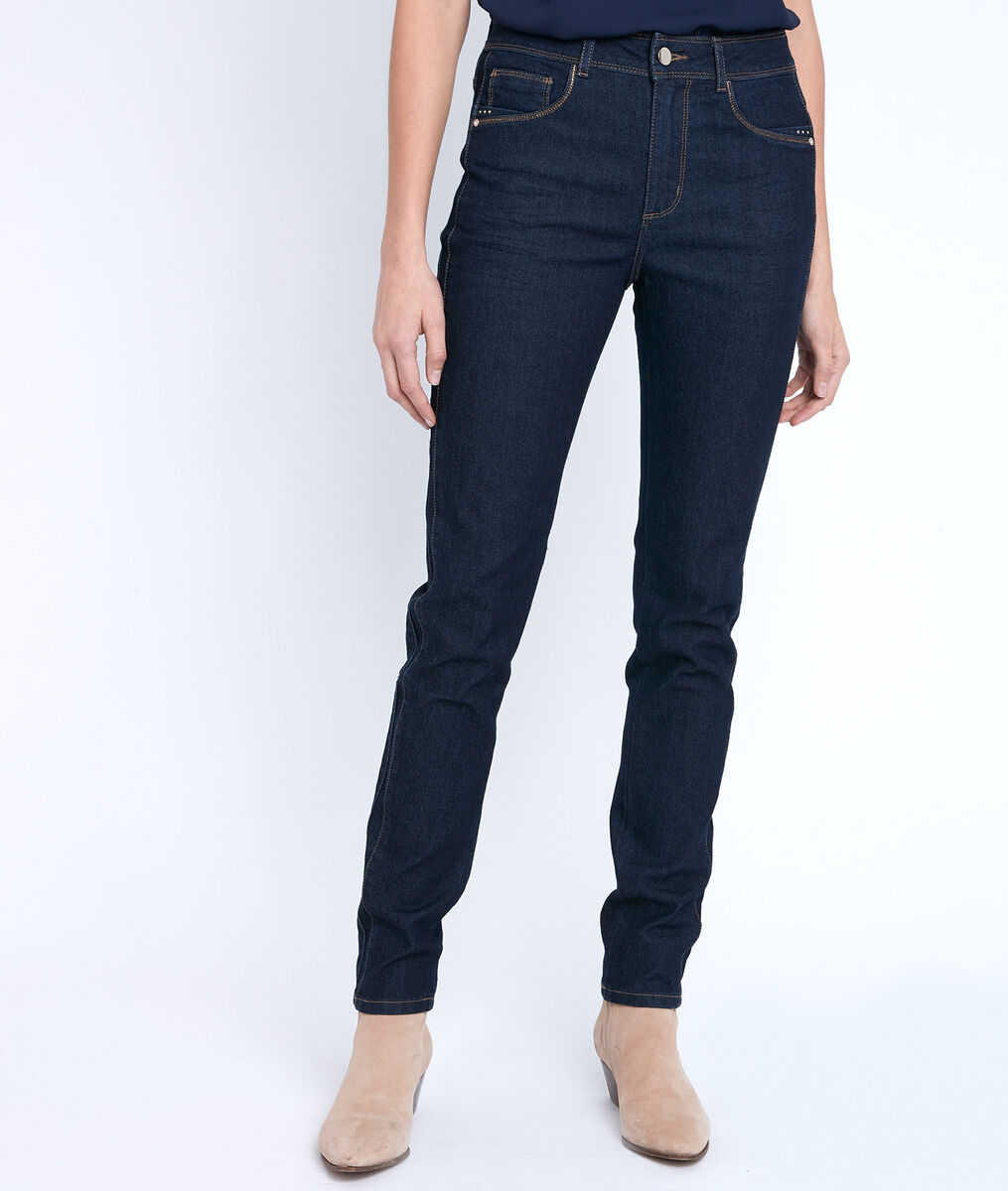The Iconic Paola slim-fit lurex jeans PhotoZ | 1-2-3