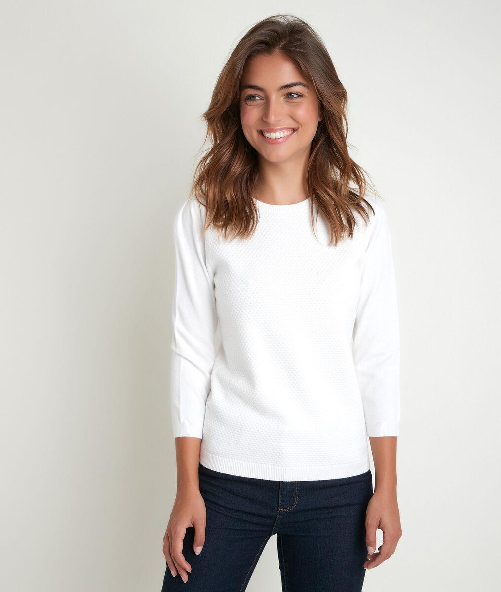 Rimel ecru honeycomb pullover PhotoZ | 1-2-3