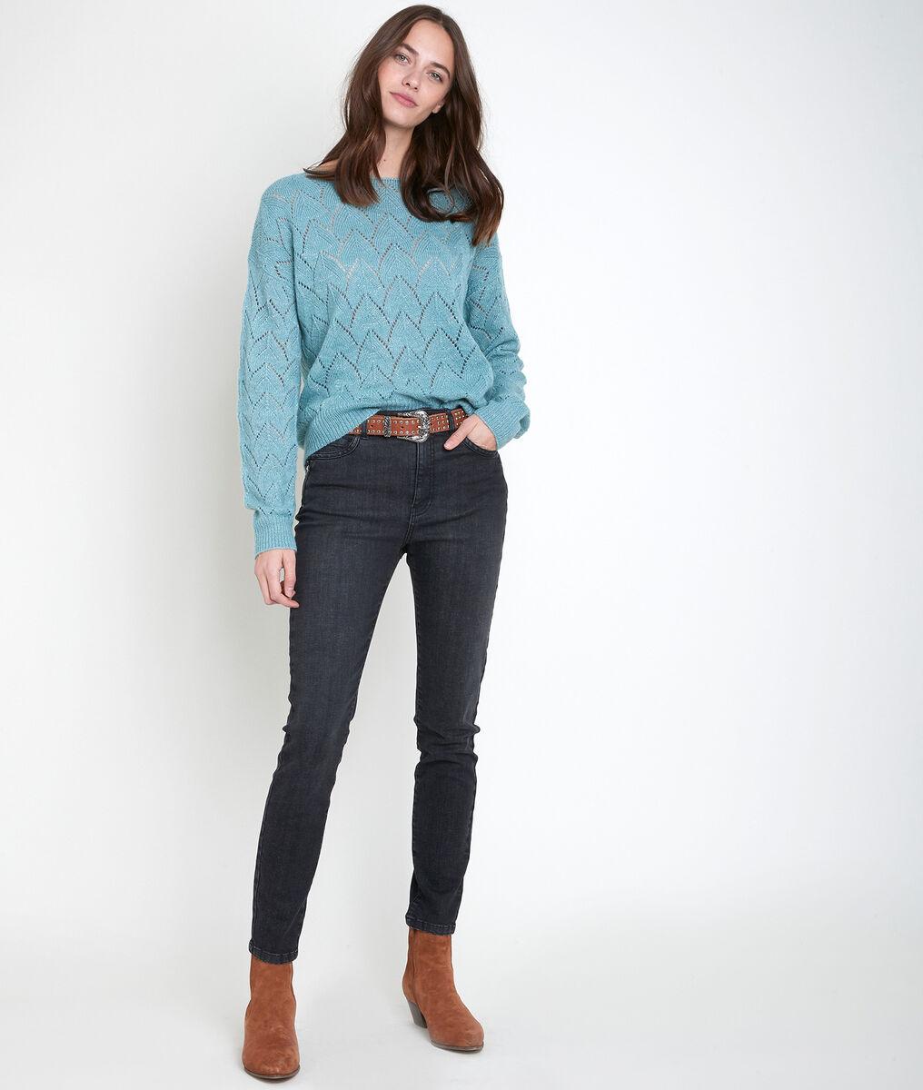 The iconic zipped César slim-fit jeans PhotoZ   1-2-3