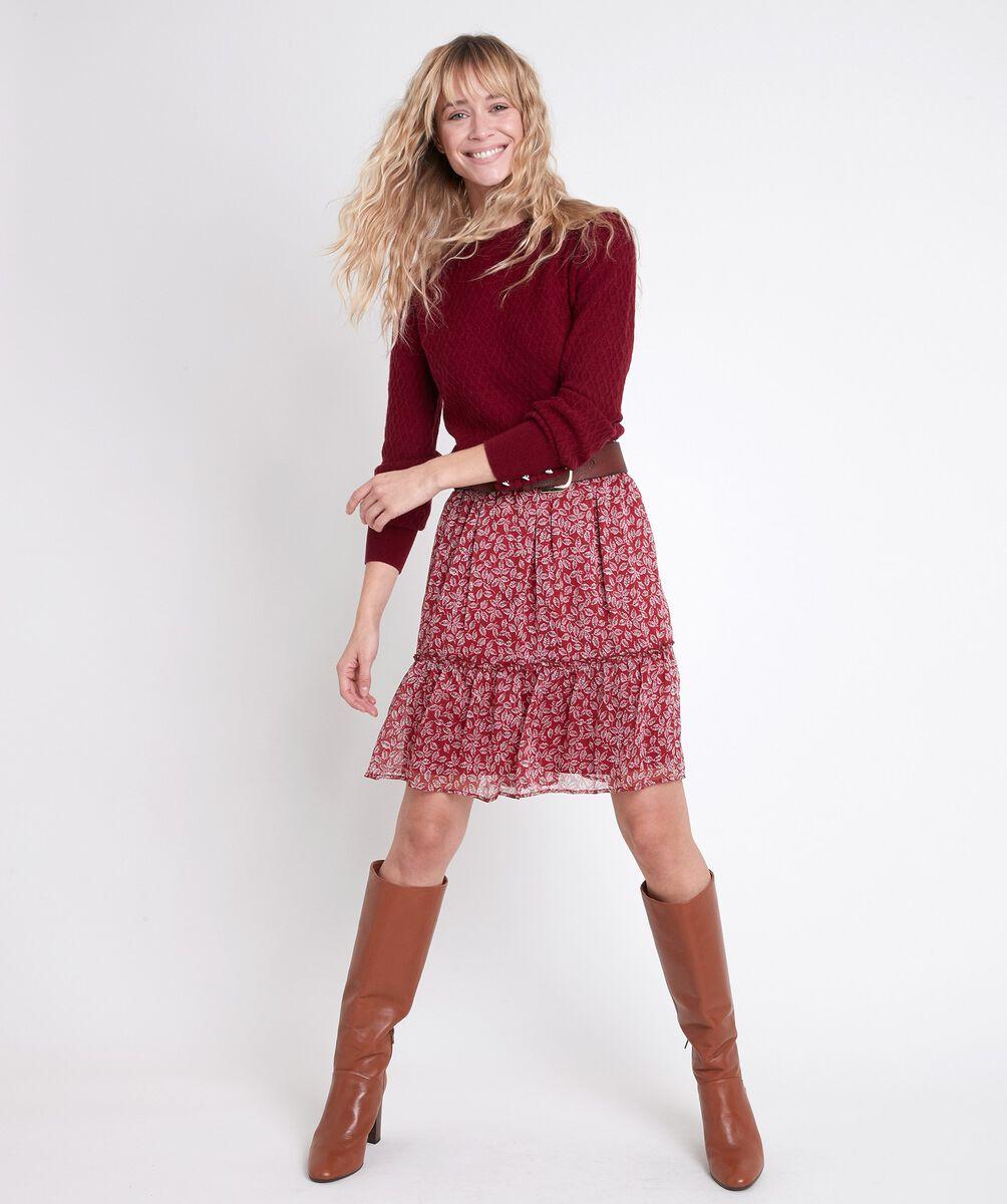 EUGENIE short printed skirt PhotoZ | 1-2-3
