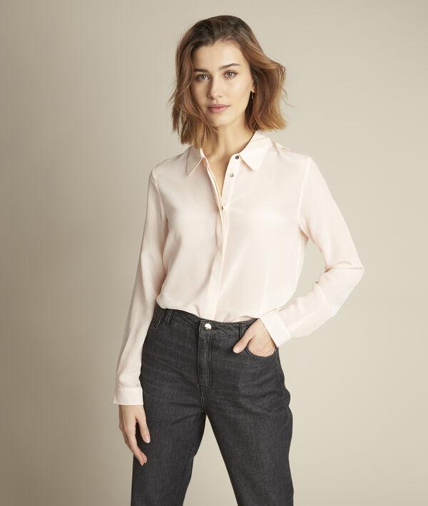 Maelle beige silk shirt PhotoZ | 1-2-3