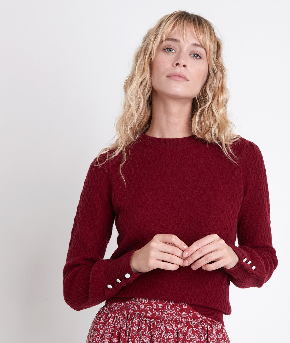 ALANA red wool and cashmere jumper PhotoZ | 1-2-3