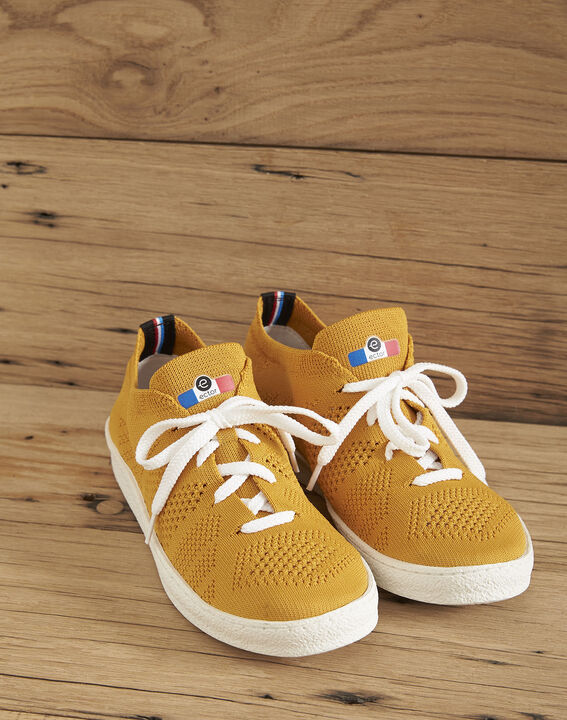 Ector yellow knitted trainers PhotoZ | 1-2-3