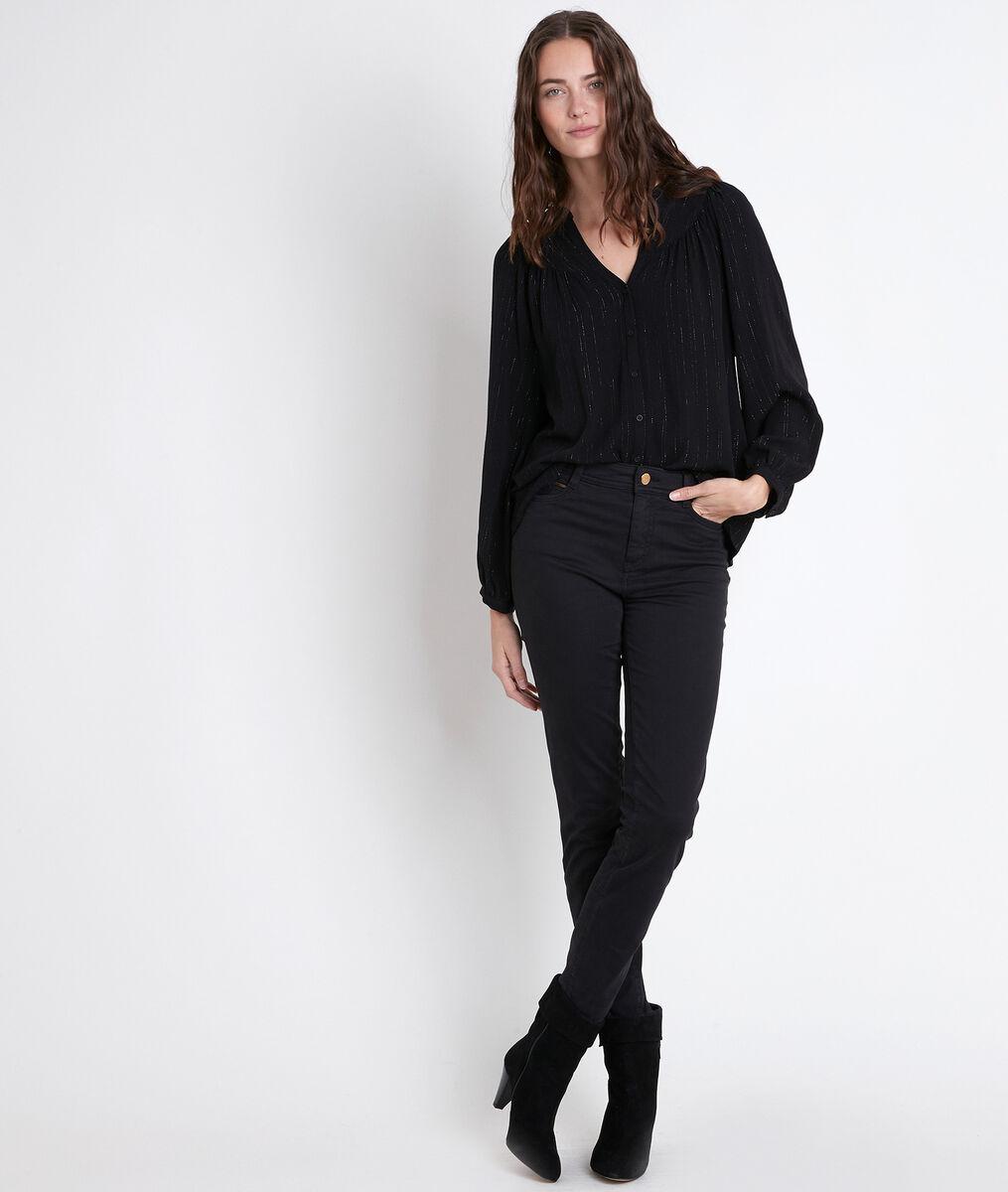 TIMEO black lurex blouse PhotoZ | 1-2-3