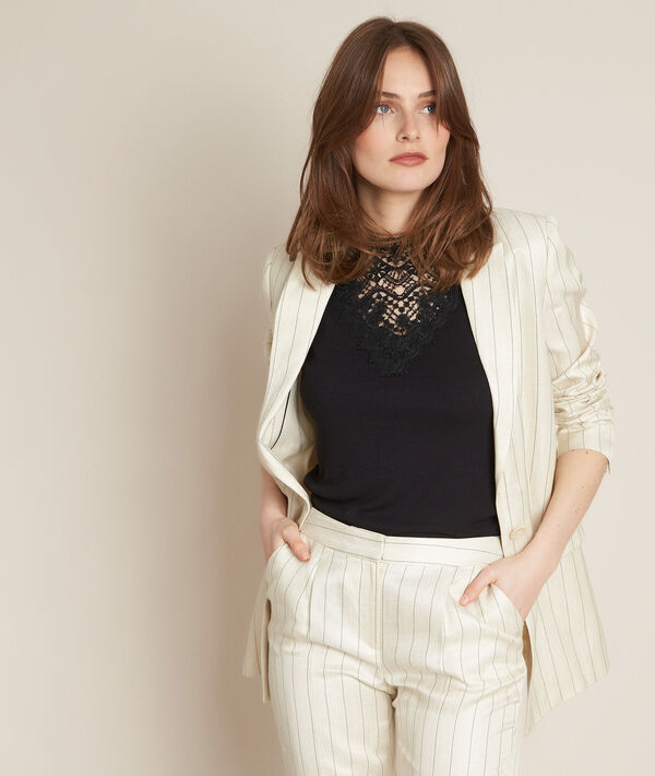 Lea linen striped jacket PhotoZ | 1-2-3