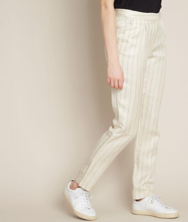 Ilias striped linen trousers PhotoZ | 1-2-3