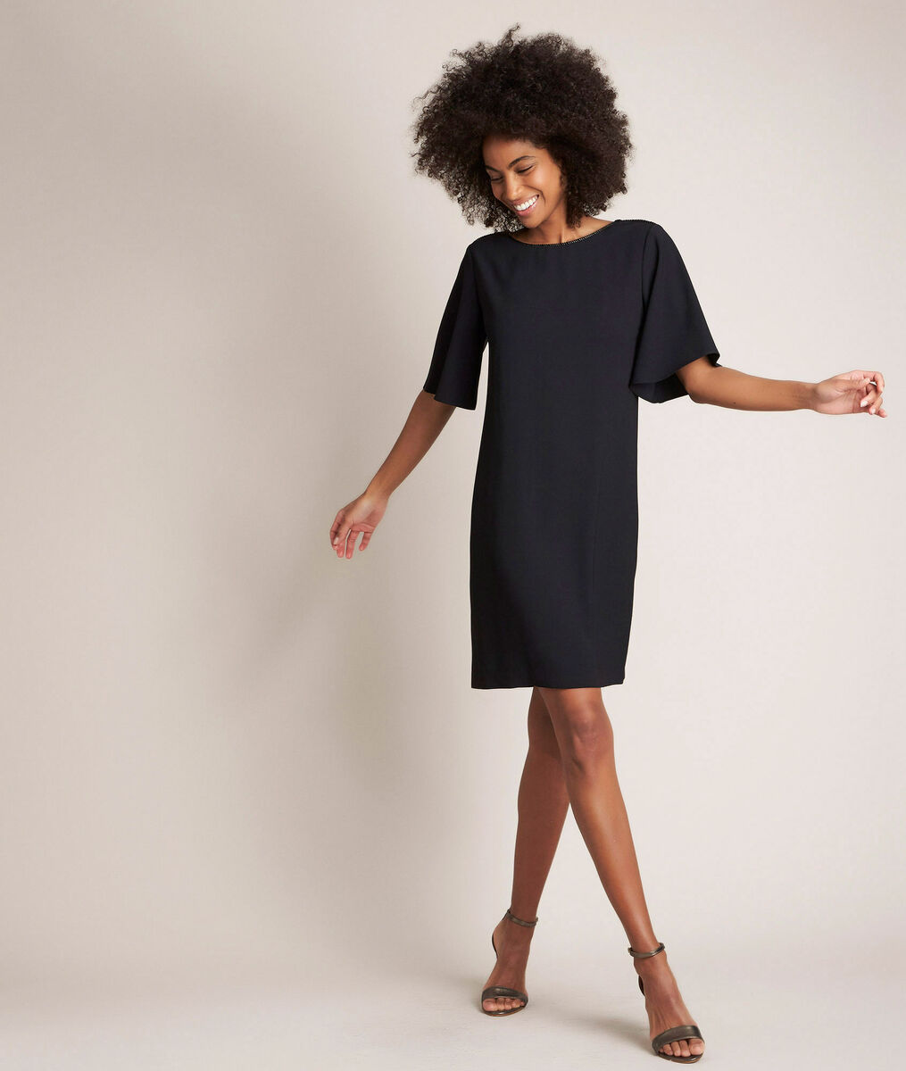 Celia straight black dress PhotoZ | 1-2-3
