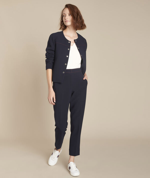 Ermel navy compact trousers PhotoZ   1-2-3