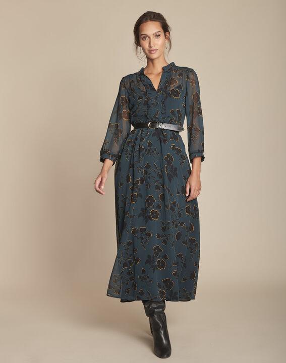 Ivanie cypress long printed dress PhotoZ | 1-2-3