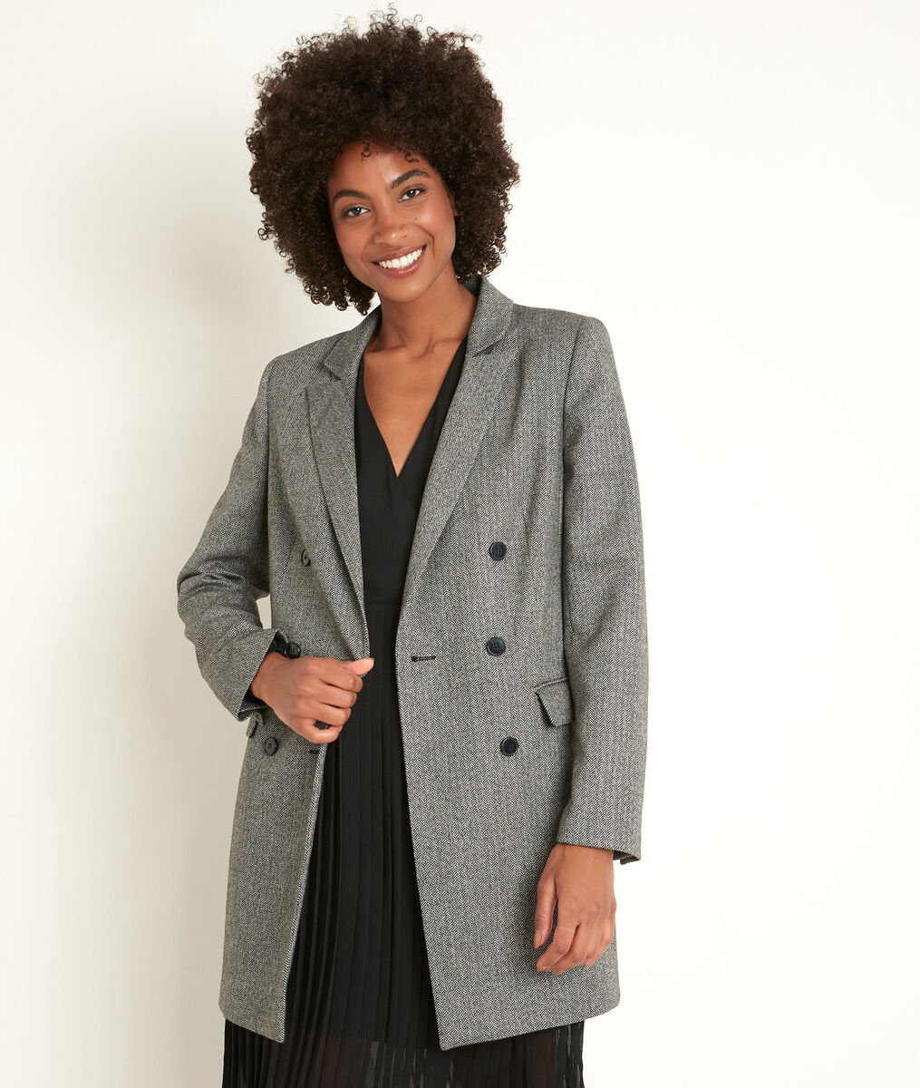 Tracy long herringbone jacket PhotoZ   1-2-3
